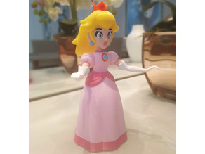 Princess Peach from Mario games - multi-color