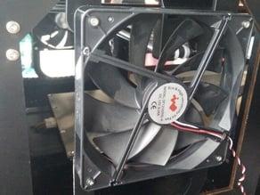 120 / 140 mm Build Chamber Fan mount for CTC / Flashforge / Makerbot Replicator