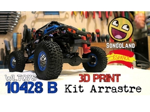 Trailer Kit - Kit Arrastre for WLtoys 10428 B (and others) RC Crawler  truck