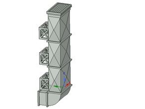 28mm building details: Modular air duct system