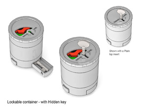 Lockable Container with hidden key