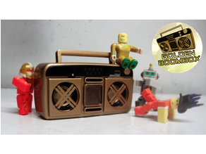 Roblox Golden BoomBox Bluetooth speaker