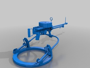 Lewis Machine Gun & Mount Full Size