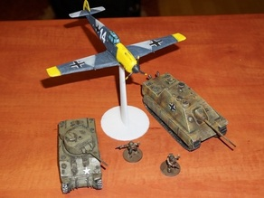 Messerschmitt Bf 109 scale 1/56 = 28 mm for WarGames WW2