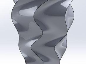 Spiral vase 6 edges with twist