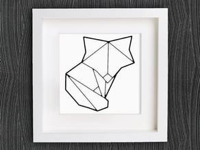 Customizable Origami Cute Fox