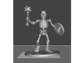 28mm Skeleton Warrior with Mace and Shield