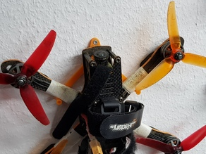 Adjustable Quadcopter / Drone wall hanger / mount