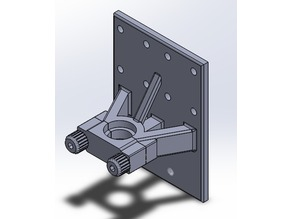 Anet A8 E3Dv6 Extruder Mount with Printed Finger Screws