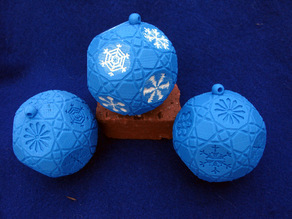 Ornament with Snowflake Drawings