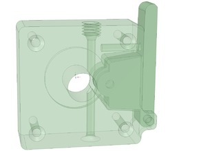 Direct Drive Bowden extruder for Mk8 drive V5