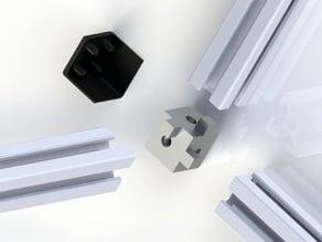 Aluminium profile 2020 6mm plug for 3 profiles and cover