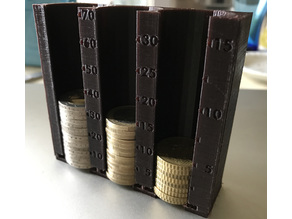 Euro Coin sorter with belt clip