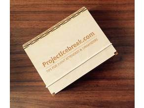 "Flex Box (Wooden box with living hinge) - Smaller, for 3x4"" name badges"