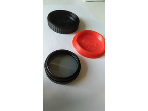 Lens Filter Case 58mm - Polarized with adapter rings ftom 52 to 58