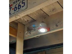 LED can light bracket
