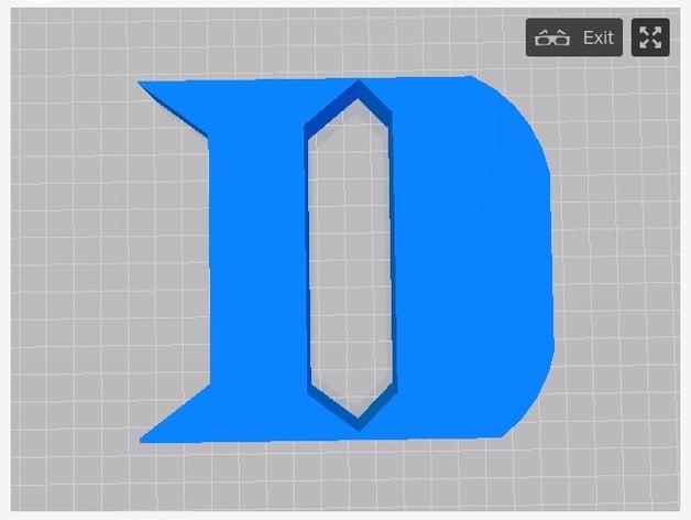Duke Blue Devils Logo By Thedarkknight Thingiverse