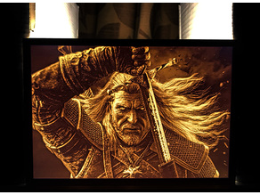 The Witcher 3 – Geralt of Rivia Lithophane