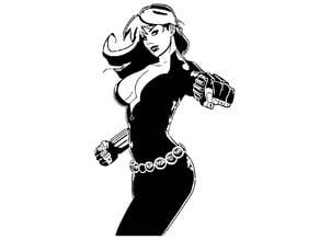 Black Widow stencil 4