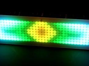8x64 high power LED-Display --- lasercut acrylic