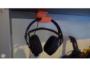 Headphone Hook with cable holder