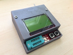 Case for Fish8840 TransistorTester with exposed SMD Pads