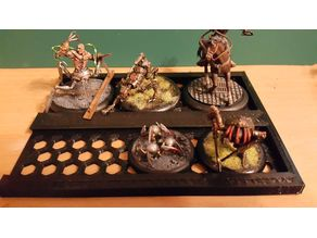 Storage tray for Malifaux 40mm and 50mm bases