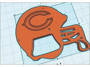 Chicago Bears Helmet Bottle Opener