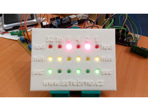 Binary clock panel and firmware - full project