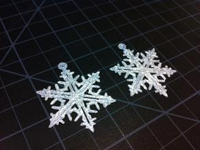 p Earring #6 Snowflake