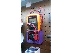 Peg Board Multimeter Holder