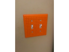 Lego 2-Gang Light Switch Cover Plate