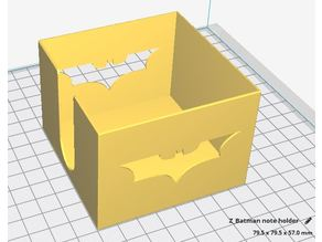 Batman post it holder 76x76x76 mm