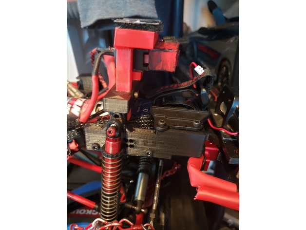 Traxxas Trx4 front Suspension battery and body mount by