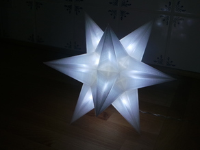 USB Christmas star - No Glue + LED holes