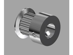 """GT2 Timing Pulley (6.35mm shaft (1/4"""")) with dual set screw suitable for CNC"""
