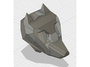 Low Poly Wolf Head
