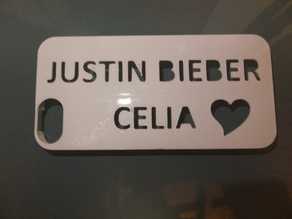 IPHONE 5S case Justin Bieber Celia
