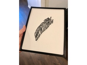Feather 2D Art w/Frame