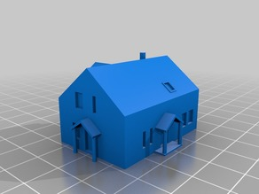 Finnish modern house 1:300 and 1:600