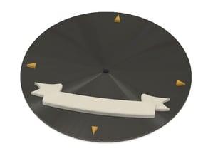 Battlefleet Gothic Battleship Base with name scroll
