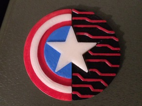 Captain America and Bucky Barnes Friendship Shield
