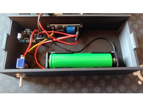 Battery/USB - solder fume extractor - w/ electronics holders