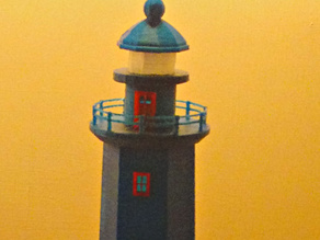 Hexagonal Lighthouse - Balcony fix and optics for small scale print