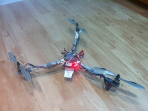 Revision III Tricopter reinforced for 13mm aluminium