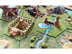 Wargaming Hex Tiles / Mighty Empires - Aztec / Lizardman