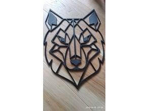 Geometric Wolf Wall Sculture