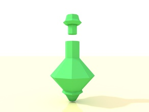 Low poly potion bottle