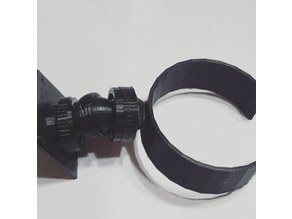 Ball and Threaded Socket with Nut, Base, Round Clamp
