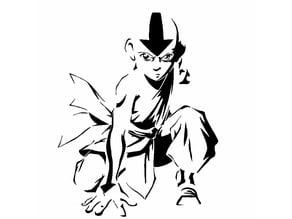 Avatar Aang stencil
